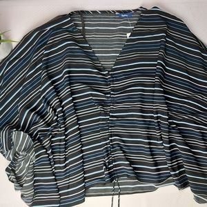 Reitmans NWT O/S Striped Fitted Poncho One Size